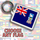 Any Country Flag Cos-Hun Double Sided Keyring Fob 45 x 35 mm