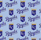 """100% Cotton Fabric Kansas City Royals Fabric Baseball 58"""" Wide Licensed Sold BTY"""