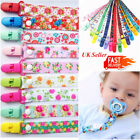 Cartoon Baby Dummies Clips Strap Holder Dummy Soother Pacifier Chain BOYS Girls