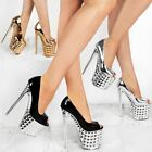 Ladies Womens Super High Heels Stripper Pole Dancing Sexy Sandals Perspex Shoes