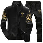 Mens Sweatshirt + Sweatpants Set Velvet Thicken Tracksuit Baseball Jacket Suits