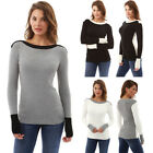 Womens Long Sleeve Sweater Blouse Ladies Sweatshirt Jumper Pullover Tops Fashion