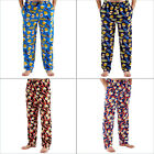 Mens Beers & Cheers Or Breakfast Printed Fleece Lounge Pants Pyjama Bottoms