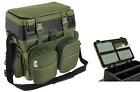 Fishing Seat Tackle Box Multi Pocket Harness Straps With Box and Tray option