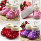 Infant Newborn Girls Newborn Warm Toddler Bowknot Hot Soft Sole Boots Baby Shoes