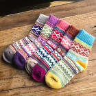 Women Wool Cashmere Warm Soft Thick Casual Multicolor Winter Socks Lot