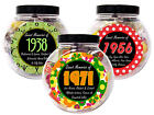 FATHER'S DAY PRESENT - RETRO SWEET JAR - CHOOSE THE YEAR HE WAS BORN