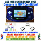 Nintendo Game Boy Advance GBA Blue System AGS 101 Brighter Backlit Mod SWITCH