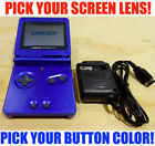 Nintendo Game Boy Advance GBA SP Cobalt Blue System AGS 001 Pick Your Buttons!
