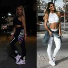Womens Joggers Night Running Pants Leggings Exercise High Waist Reflective