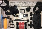 GoPro HERO 6 Black CHDHX-601 + 64GB Card + Huge Lot of New Extras