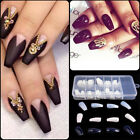 100Pcs Nail Art Tips Coffin Shape Long Full Cover False Ballerina Nails Beauty