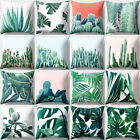 BA_ OPUNTIA CACTUS GREEN LEAVES PRINT PILLOW CASE CUSHION COVER HOME DECOR NICE