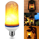 LED Flame Effect Fire Light Bulb E26 Flickering Flame Lamp Simulated Decorate AU