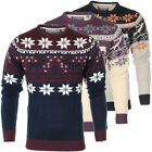 Mens Soulstar X-Mas Snowflake Reindeer Knitted Jumper Sweater Christmas Top Size