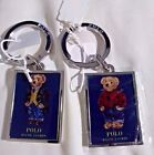 POLO RALPH LAUREN BEAR KEYCHAIN IN RED OR BLUE P WING VINTAGE