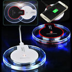 Clear Qi Wireless Fast Charger Pad Mat for S6 S7 S8 Note 8 Apple iPhone X 8 Plus