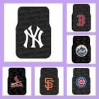 MLB Licensed Rubber Car & Truck Floor Mats Set (2 Mats) - Choose Your Team