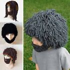 Fun Handmade Hairy Wig Beard Caveman Winter Hats Warm Hobo Wild Cute Caps Gifts