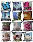 New Printed Velvet Micro Mink Cushion Cover Pillowcase Size 16x16""