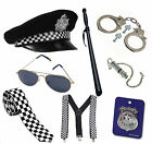 Men's Policeman Cop Bobby Fancy Dress Stag Night Costume Accessories