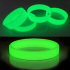 Luminous Silicone Rubber Wristband Bracelet Set Green Color Glow In The Dark