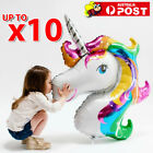 Huge Rainbow Unicorn Fantasy Horse Foil Balloon Girl Birthday Party Decorations