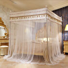 romantic mosquito net for bed canopy bed curtain Stainless steel frames beads
