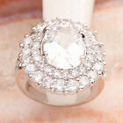 Oval Surprise price Natural White Topaz 11*14mm Gemstone Silver Ring R2023