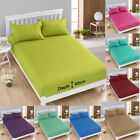 """Extra Deep Fitted Sheet Soft Percale 16"""" / 40cm Cotton Blend, All Sizes"""