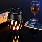 Bluetooth Speaker Atmosphere LED Torch Flame Night Light Lamp For smartphone