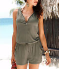 Summer Women Party Playsuit Rompers Zippeer Clubwear Casual Jumpsuit Shorts New