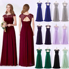 Ever-Pretty Long Maxi Bridesmaid Dresses Lace Bead Evening Party Gown 09993