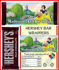 SNOW WHITE BIRTHDAY PARTY FAVORS CANDY BAR HERSHEY BAR WRAPPERS