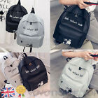 Ladies Girls Canvas Casual Backpack Rucksack School College Travel Shoulder Bag