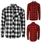 Tokyo Laundry Mens Wilding Checked Shirt Brushed Cotton Flannel Long Sleeved Top