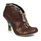 NEW IRREGULAR CHOICE *SCRUMPTIOUS* BRONZE (B) LASER CUT SHOES