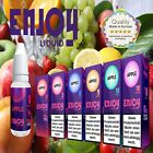 Enjoy Liquid PROBIERSET ✔ Premium E-Zigaretten Liquid ✔ 5x10ml ✔ Nikotin 0-18 mg