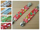 L@@K! Handmade Ribbon Mitten Clips/Savers - Choice of Festive Ribbons