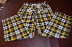 NWT Pittsburgh Steelers Womens Plaid PJ Lounge Pants Drawstring Cotton Blend S