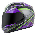 Scorpion EXO-R410 Kona Full Face Motorcycle Helmet Purple/Silver Adult Sizes