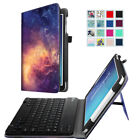 Samsung Galaxy Tab E 8.0 / 9.6 Removable Bluetooth Keyboard Leather Case Cover