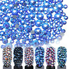 1 Bag Rhinestone 3D Nail Decoration Flat Bottom Multi-size Colorful  DIY