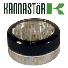 Large Silver Kannastor Clear Top 2 Part Aluminium Metal Herb & Spice Grinder