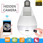 1080P 360 Panoramin Smart Wifi Camera LED/IR Bulb Home Security Camcorder Lamp