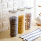 Cylinder Noodle Container Spaghetti Canister Cereal Crisper Grains Box Holder