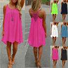 Celmia 8-24 Women's Casual Loose Sleeveless Cami Sundress Beach Short Mini Dress