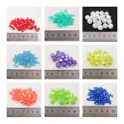 Faceted Round  Ab Acrylic Beads *8 Sizes**66 Colours* Beading Jewellery Making