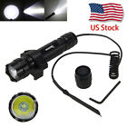 501B 5000Lm XM-L T6 LED Tactical Flashlight Torch+Rifle Mount Gun+Remote Switch