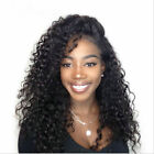 Pre Plucked Lace Front Wig Brazilian Deep Wave Wavy Full Head Wigs W/Baby Hair